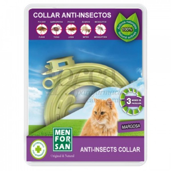MEN FOR SAN COLLAR ANTI-INSECTOS PARA GATOS 30CM