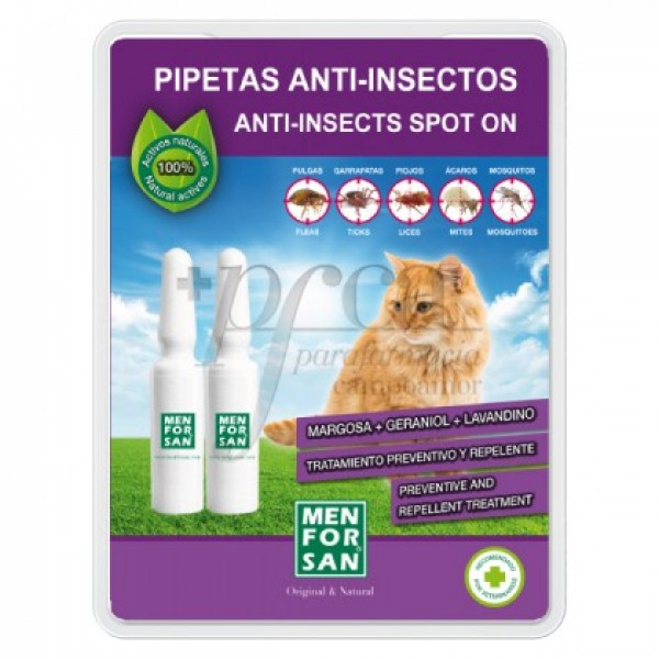MEN FOR SAN PIPETAS ANTI-INSECTOS PARA GATOS 2U