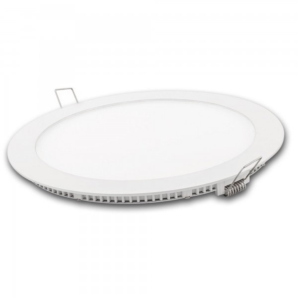 Downlight led redond.blanco 18w.tricolor